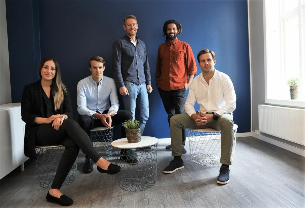 Renteradar-teamet: F.v. Sanna Altun, Finn Olav Brækken, Sindre Noss, Stian Ihasee, Fredrik Heffermehl.