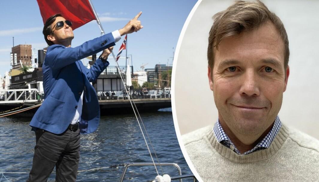 Pål T. Næss gleder seg over Trond Riiber Knudsen og Spacemaker-exiten.