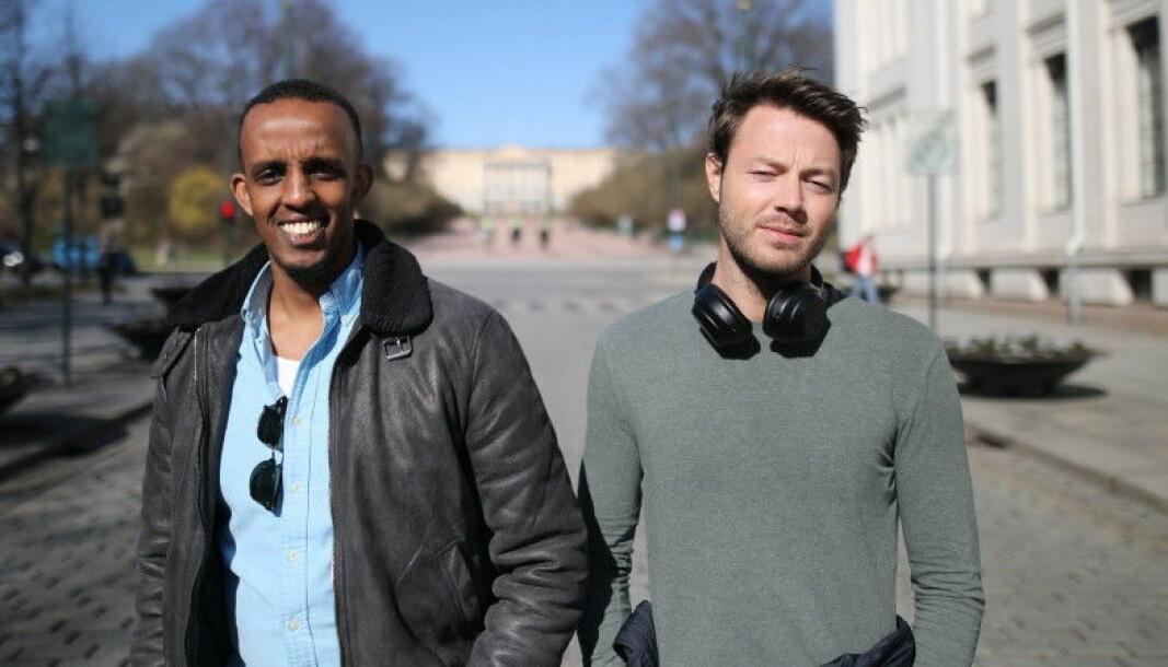 Shafi Adan og Arne Kvale kan feire at interessen for selskapet deres er på topp.