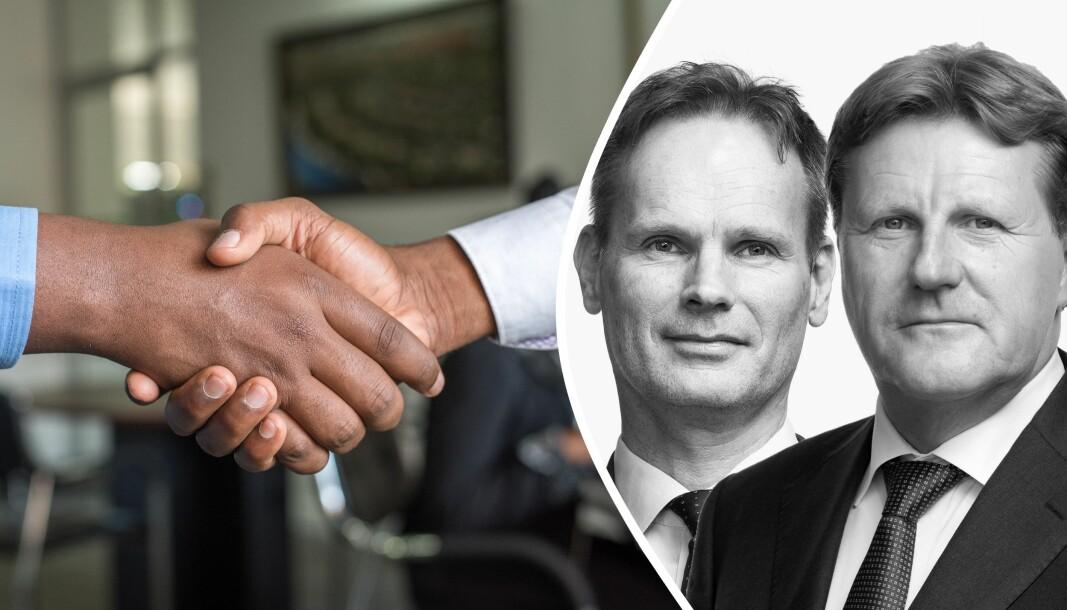 Advokater ne Erlend G. Balsvik og Jan Martin Fjellestad i Bull & Co.