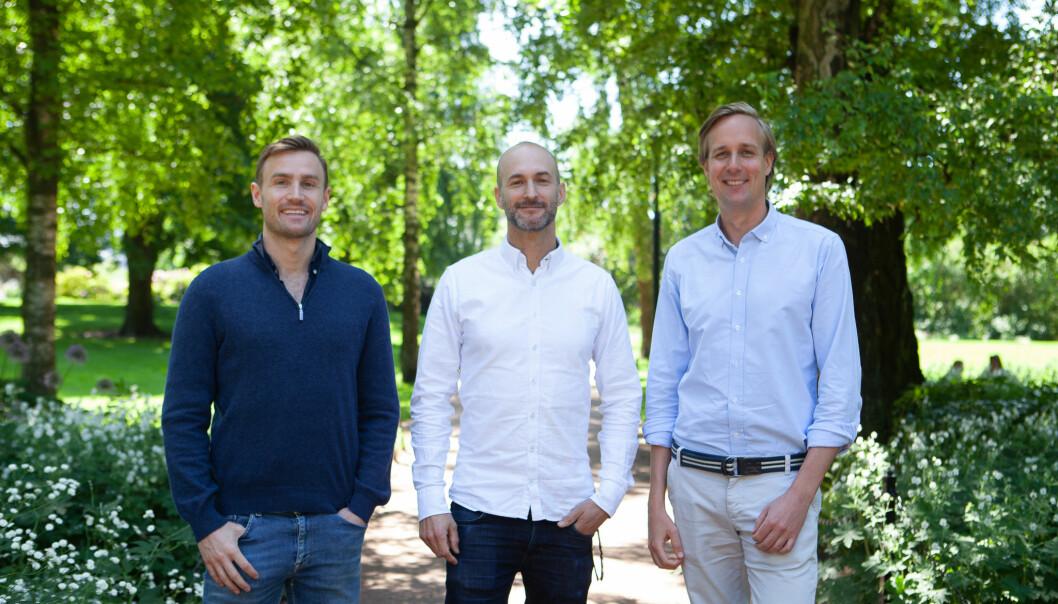 Tobias Martinsen (CMO), Peder Søholt (CTO) og Snorre Jordheim Myhre (CEO) i Plaace.