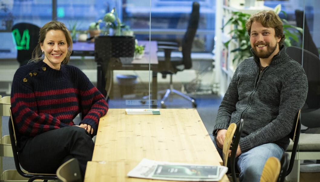 CEO Merete Nygaard og CTO Sverre Sundsdal i Lawbotics.