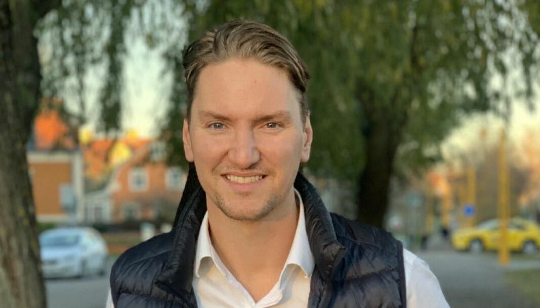 Johan Hägglund står bak den svenske satsningen Tioex, som nettopp har klart å kjøpe loss en post med Klarna-aksjer på vegne av sine medlemmer.