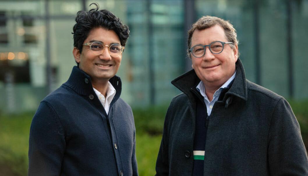 Huddlestock-gründer og styremedlem Murshid M. Ali og CEO John E. Skajem.