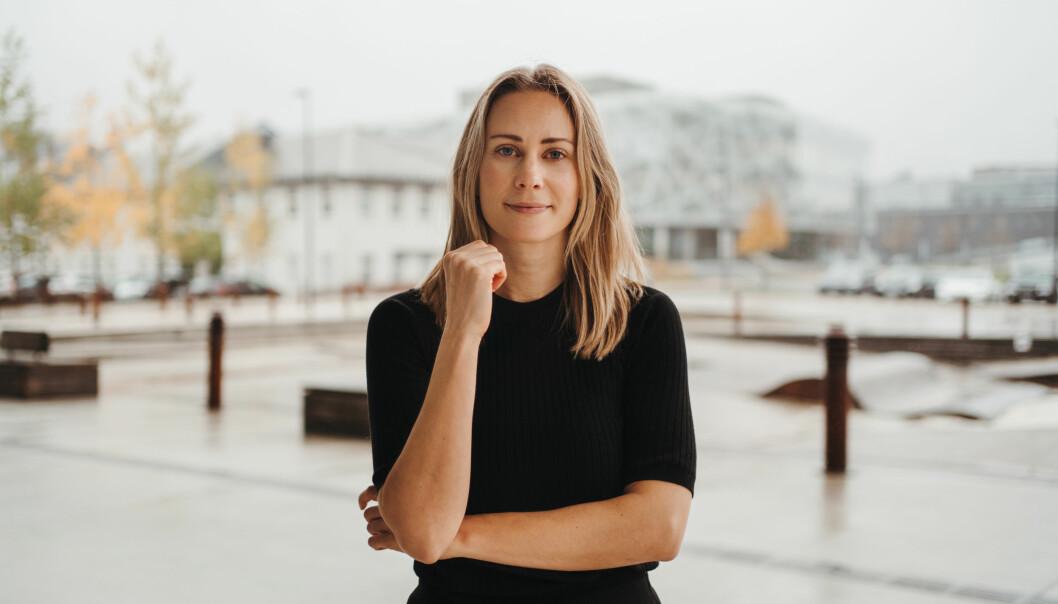 Dette er foreløpig startupen PNGR - daglig leder og eneste ansatt Susanne Håvardstun (32).
