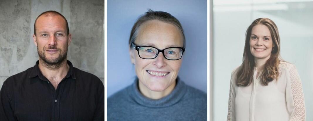 Aksel Lund Svindals Norselab og Hilde Støle Pettersens Momentum (høyre) investerer i Nofence, her ved daglig leder Marianne Sundsbø (midten).