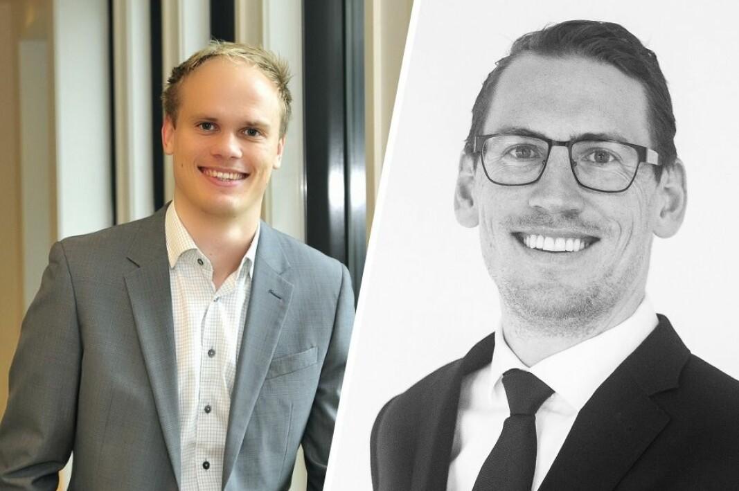 Business Controller Harald Amdal og gründer Atle Johannessen i Front Innovation.