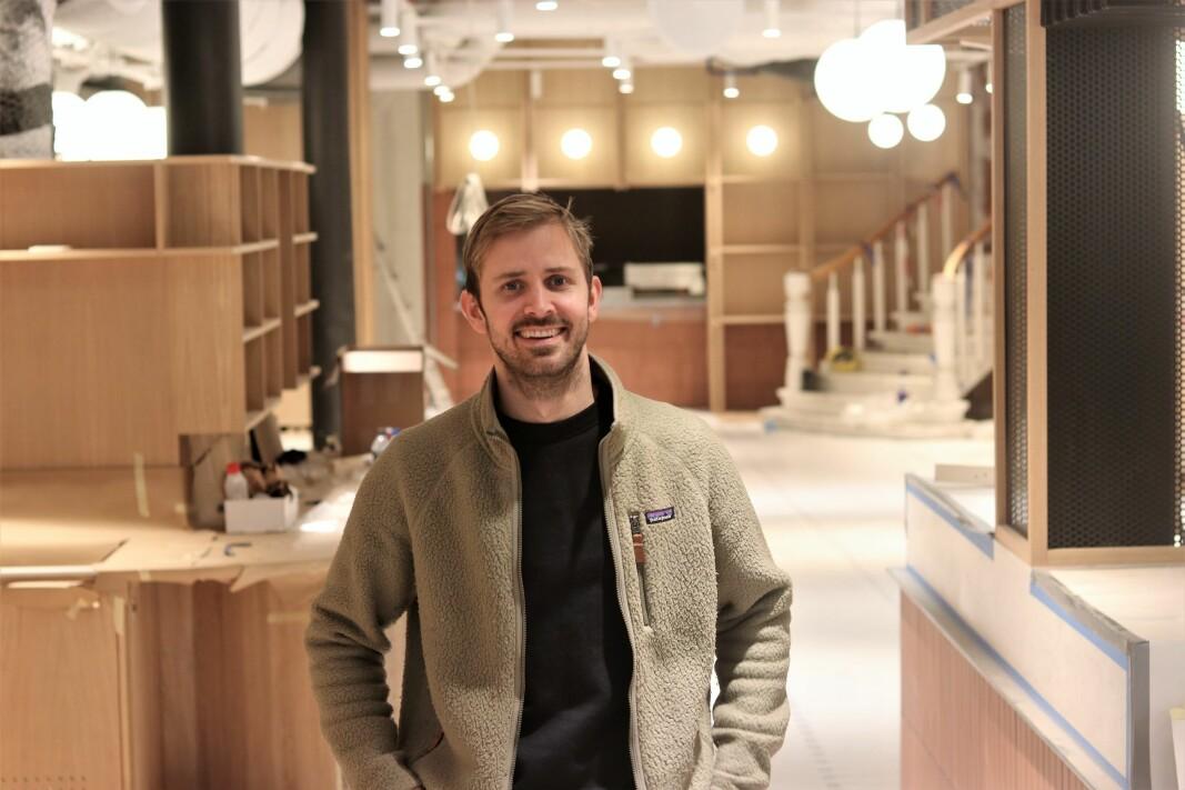 Anders Mjåset er klar for åpning av Mesh Youngstorget.