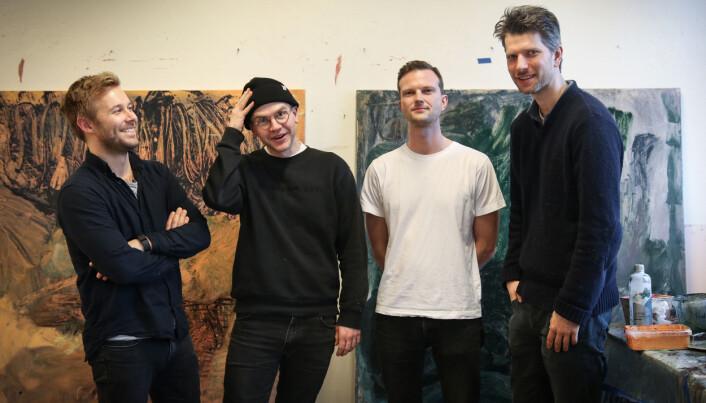 De fire medgründerne.: Christian von Hanno, Ruben Steinum, Markus Eckbo Endresen og Mikael Hegnar.
