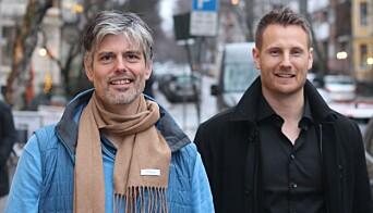 Med på laget er «kjendislærer» Håvard Tjora (t.v), som har ansvar for å utvikle det pedagogiske rammeverket til Eduplaytion. Her sammen med Kristoffer H. Engebø.