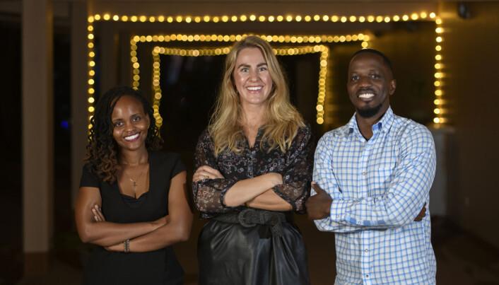Irene Mutuzo (t.v.) og Graeme Ampeire (t.h.) er to av de nyansatte hos Thea Sommerseth og Diwala etter at finansieringsrunden kom i havn.