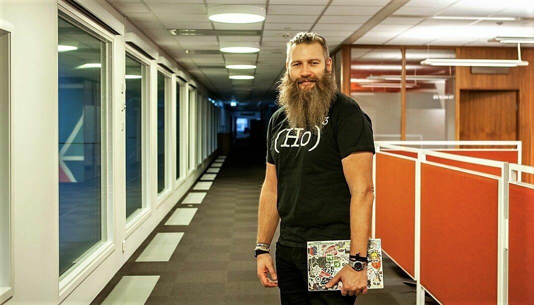 Leder for DNB New Tech Lab, Yngvar Ugland, hadde tatt på seg nerdenes egen julenissedrakt, da Shifter møtte ham for å snakke om fremtidstrender.