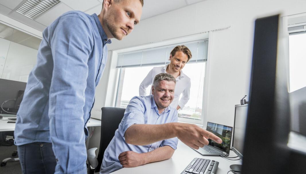 Gründerteamet i Globus.ai består av CEO Helge Bjorland, CCO Jan Kristiansen og COO Tor-Håkon Hellebostad, samt CTO Ivan Metrikin (ikke avbildet).
