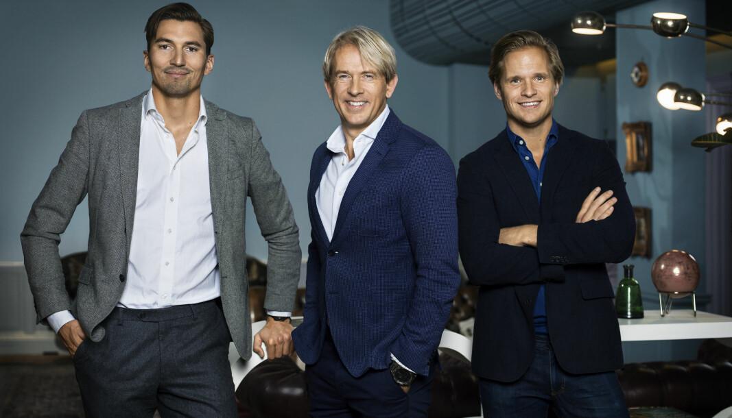 Gustav Axelson (t.v), Eivind Roald og Mattias Holmström i QNTM.