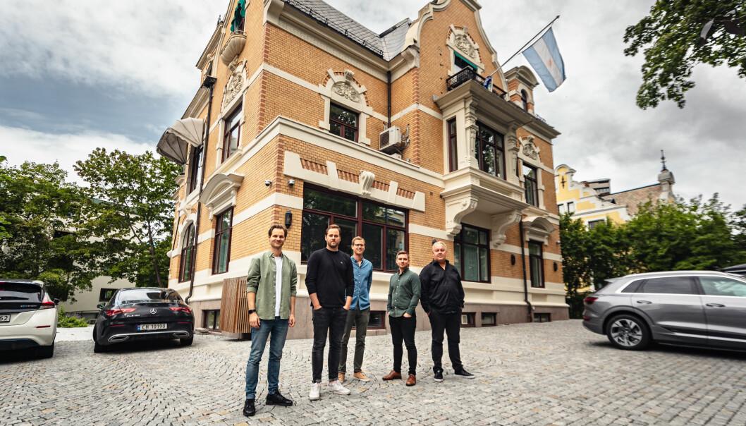 Virdi-teamet, f.v.: produkteier Michael Wiik, daglig leder Håvard Heggem von Krogh, produkteier Sindre Sangnes, medgründer Aslak Bergersen, og strategisk rådgiver Fredrik Engh.