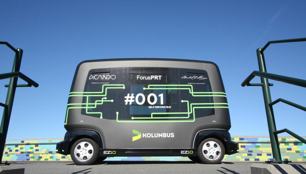 De selvkjørende bussene til Kolumbus er blant dem som tester passasjertellesystemet til Saga Tenix.