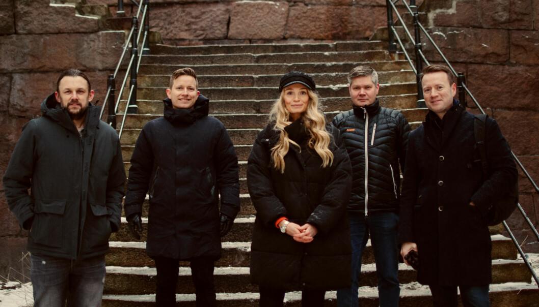 Geir Sand Nilsen (f.v.), Øystein Høie, Ida Pernille Hatlebrekke, Dan Pedersen og Per Øyvind Skard.