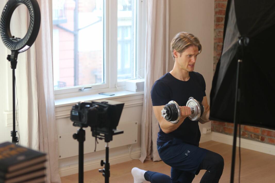 Torbjørn Husevåg i aksjon med nysatsingen Torbs Training.