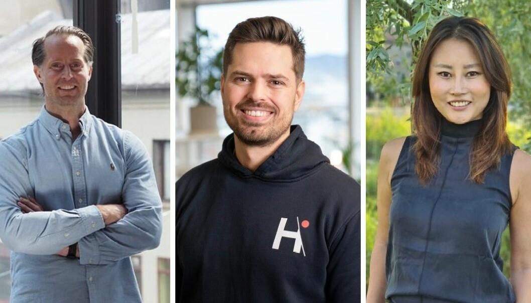 Christoffer Andvig i Neonomics, Alf Gunnar Andersen i Horde og Sonni Christine Jakobsen i Bill Kill er alle en del av den nye interesseorganisasjonen Fintech Norway.