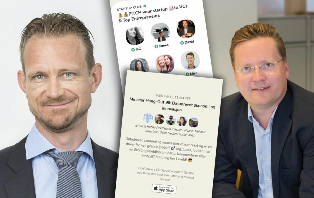 Advokat og GDPR-ekspert Vebjørn Søndersrød og daglig leder i personvernstartupen Traq, Per Olav Nyborg, er dypt skeptisk til appen Clubhouse.