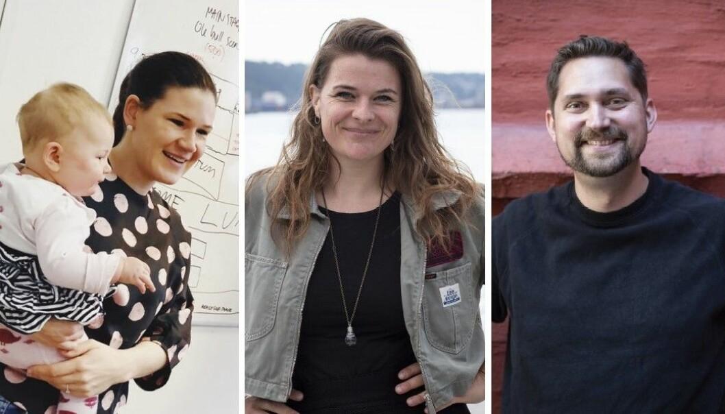 Gründer og daglig leder av StartUp Norway, Maja Adriansen, Payr-gründer Åste Einn og Kolonial-sjef Karl Munthe-Kaas.