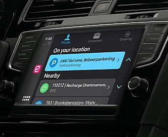 Norsk parkeringsapp bygges inn i bilteknologien til Apple