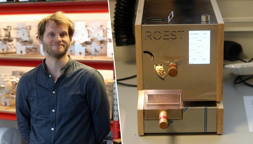 Trond Simonsen i Roest og selskapet digitale bønnebrenner
