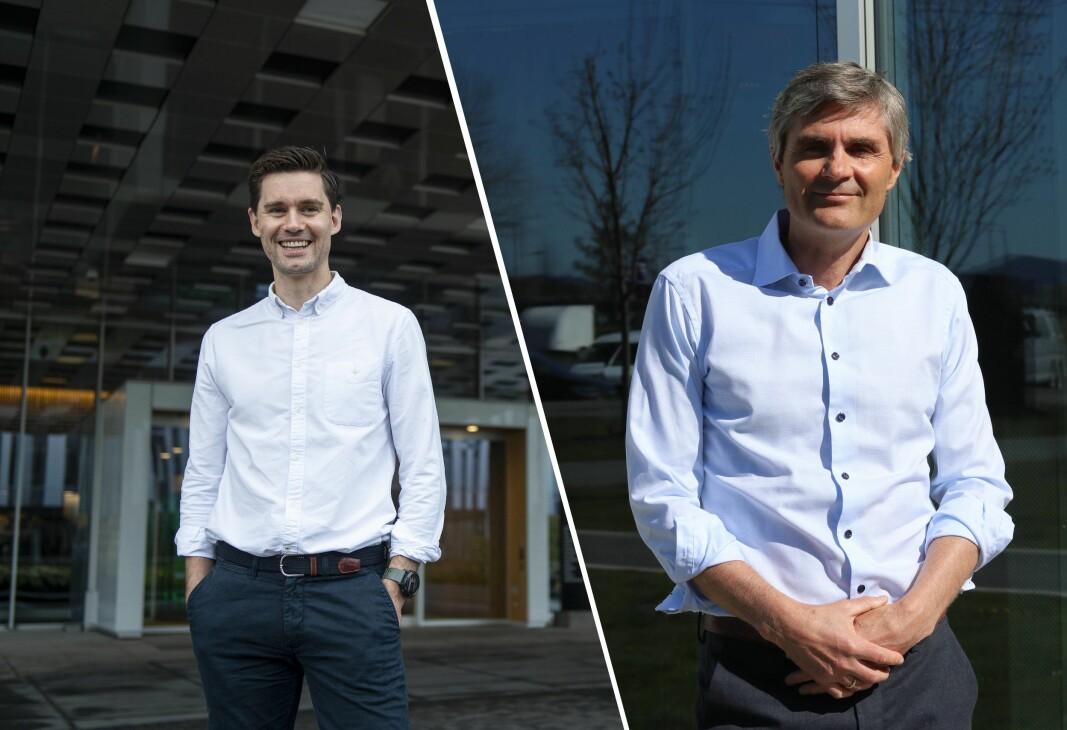 Jarle Skrebergene og John Markus Lervik leder hvert sitt Aker-kontrollerte selskap, som sammen danner ryggraden til den nye softwaresatsingen Axis.