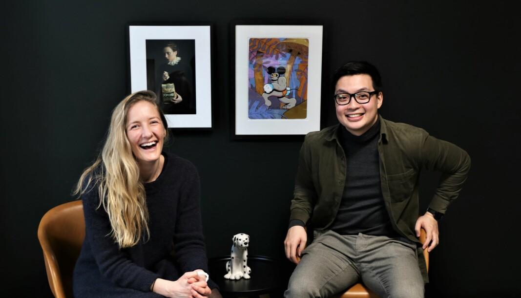 Daglig leder i Folq, Eldri Coll Mossige, og nyansatte Vinh Nguyen, som er sjef for forretningsutvikling i selskapet.