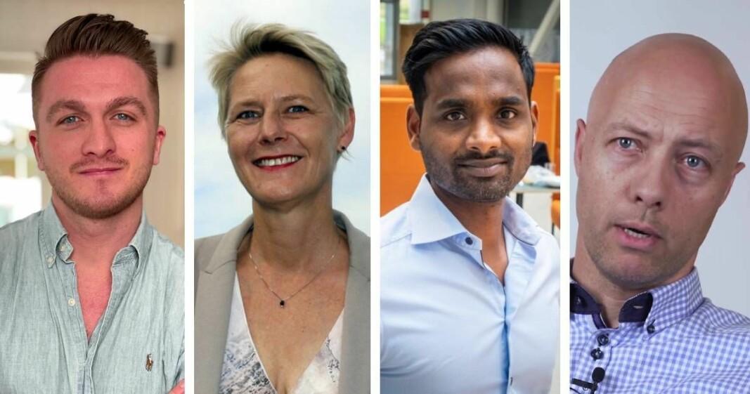 Axel Hunter, Astat, Anne Jorunn Aas i Farmforce, Daro Navaratnam i Dintero og Magne Fretheim i Spenn, representerer fire av de seks norske selskaper som er valgt ut til Mastercards Ligthouse-program.