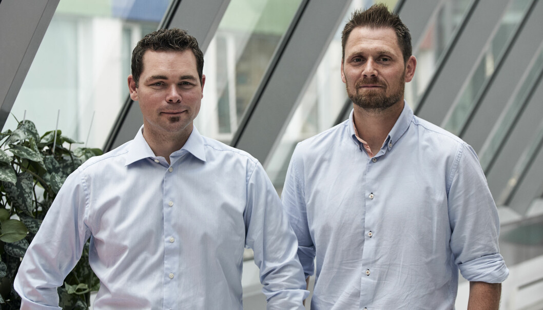 Gründerne Magnulf Pilskog og Erik Bakstad i Ardoq. Pilskog var sjef i oppstarten. Åtte år og en ekstern sjef senere, tar Bakstad over spakene.