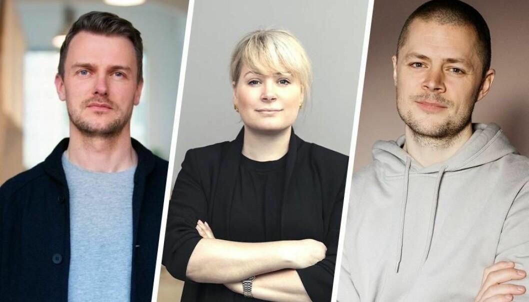 Mathias Hovet, fra Heydays og Wanda, Cathrine Movold (Finstart Nordic og Making Waves) og Christian Bielke fra Bielke&Yang.