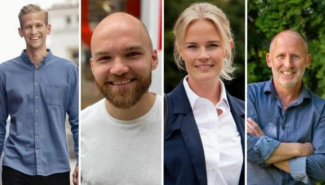 Espen Malmo i Skyfall Ventures, Kjetil Holmefjord hos StartuLab, Mathilde Tuv Kverneland hos ArkwrightX og Johan Gjesdahl hos Alliance Venture.