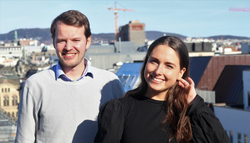 Simon Rudd og Marinette Hexeberg i TheFactory