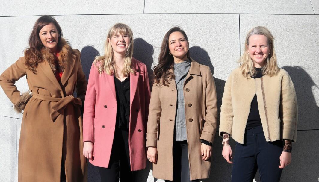 Rita Anson, Sunniva Sandjord, Angela Holter og Stine Svanevig i WIN Network