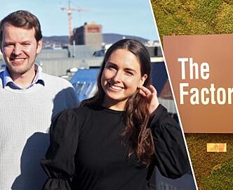 Simon Ruud og Marinette Hexeberg leder storsatsing i TheFactory. Varsler samarbeid som vil ta selskapet til nye høyder