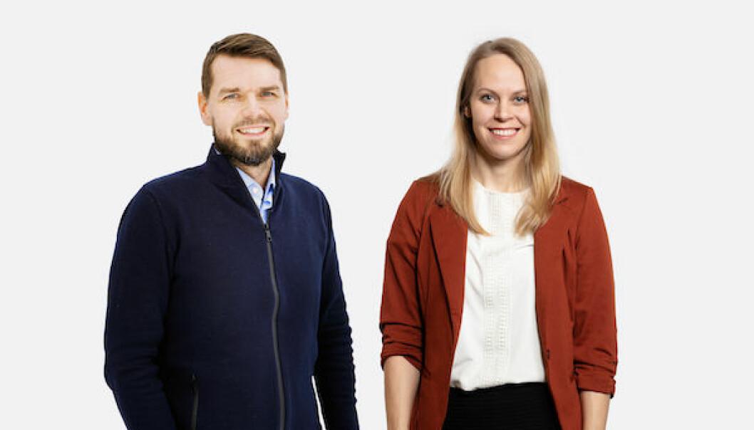 CEO Øyvind Reed og CTO Ingrid Ødegaard i Whereby.