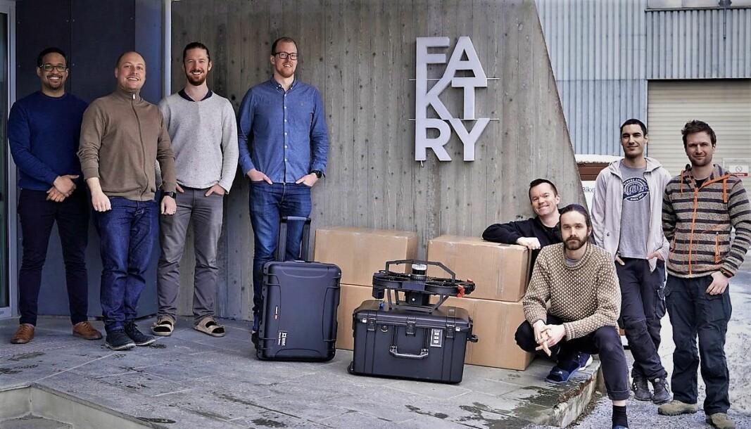ScoutDI-teamet sitter på Faktry i Trondheim.