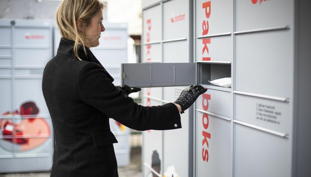 Pakkeboks åpnes enkelt ved hjelp av Posten-appen.