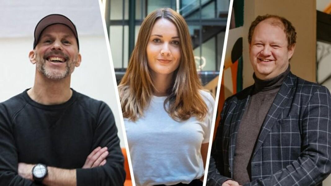 Nils Juell i Startuplab, Stine Andreassen i Wa.Works og Erik Falk Hansen i Avantgarde Search deler bekymringen om kompetansemangelen i norsk oppstartsbransje.