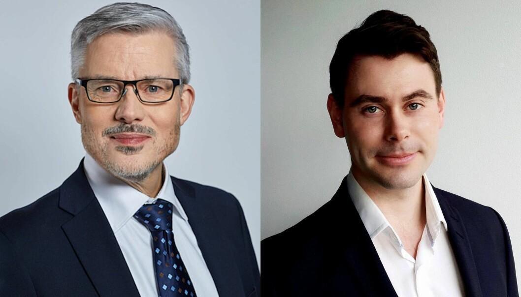 Stephan Nilsson (t.v.) og Torje Sunde er gründerne bak Abendum, som nå er valgt ut til Finanstilsynets regulatoriske sandkasse.
