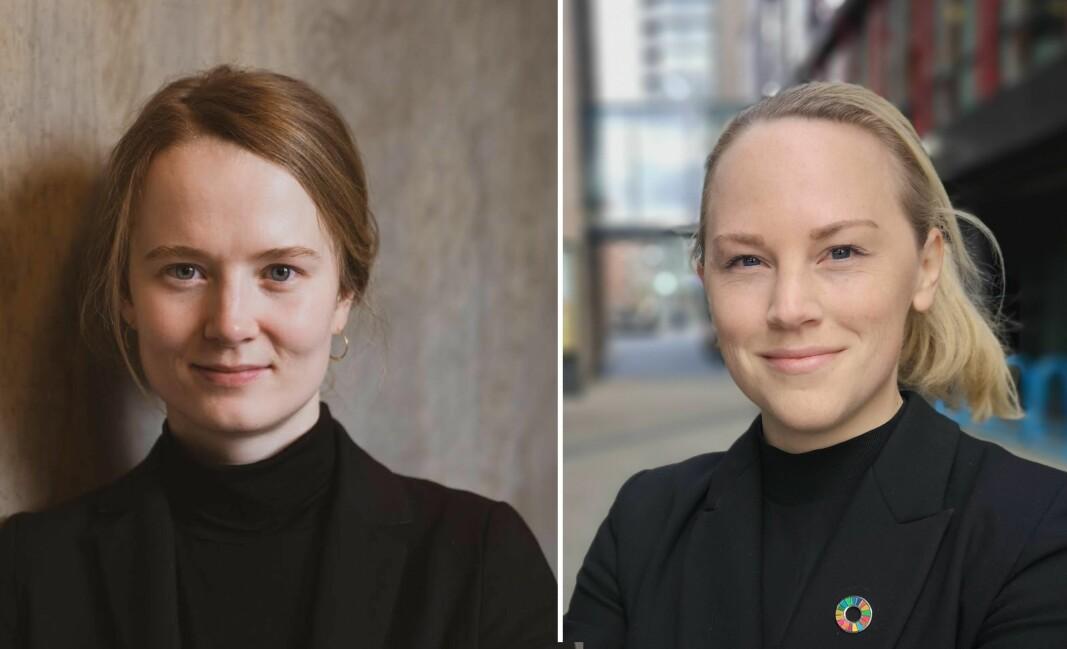 Marit Rødevand, daglig leder i Strise og Ida Marie Christensen, Head of Impact & Growth i Danske Bank forteller har gode erfaringer av samarbeid mellom stor bank og liten startup.