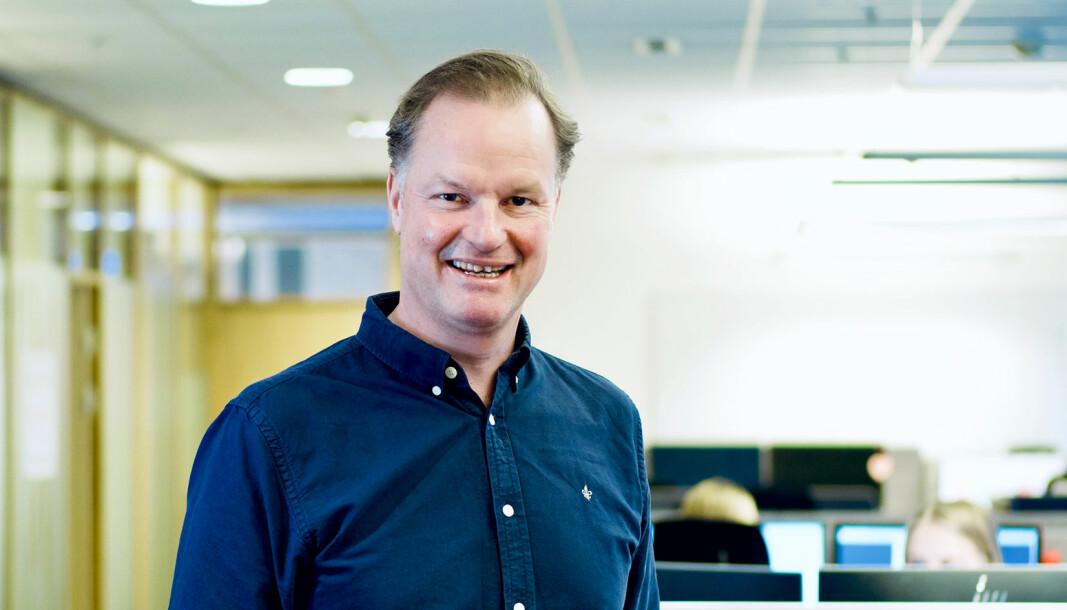 Øyvind Thomassen, adm. dir. i Sbanken har all anledning til å smile.