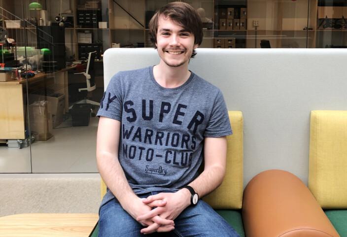 Medgründer og CTO Sondre Ek gikk på bachelorstudiet på NTNU da han møtte Tackle-gründer Sindre Holme.