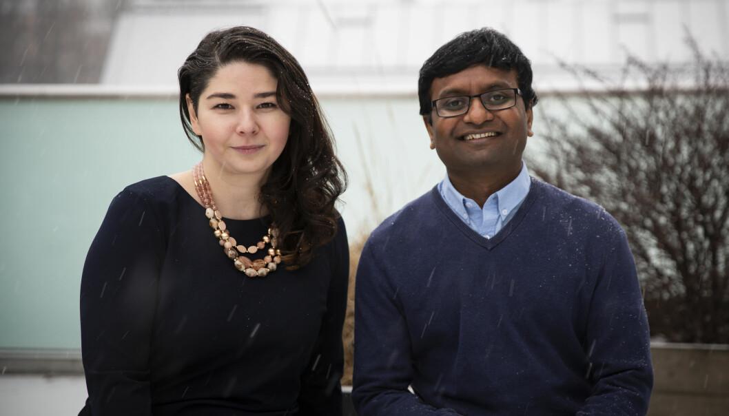 Maria Amelie og Vinay Setty leder «fake news»-detektoren Factiverse.