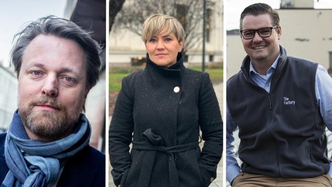 Jarle Holm i Monner, Camilla Kamberg i NEW, og Ingar Bentsen i The Factory mener et eventuelt oppkjøp av Sbanken vil gi store ringvirkninger i startup-miljøet.