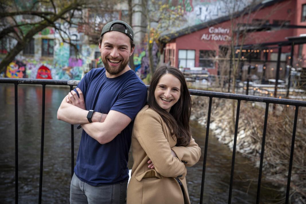Daniel Caetanya Fossum og partner Maëlle Baud, henholdsvis CEO og COO i Founders & Fools.