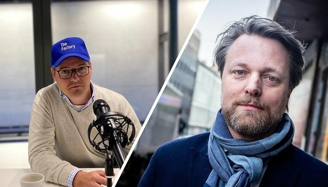 Ingar Bentsen i The Factory og Jarle Holm i Monner får drahjelp av SR Bank i sitt nye gründerakademi.