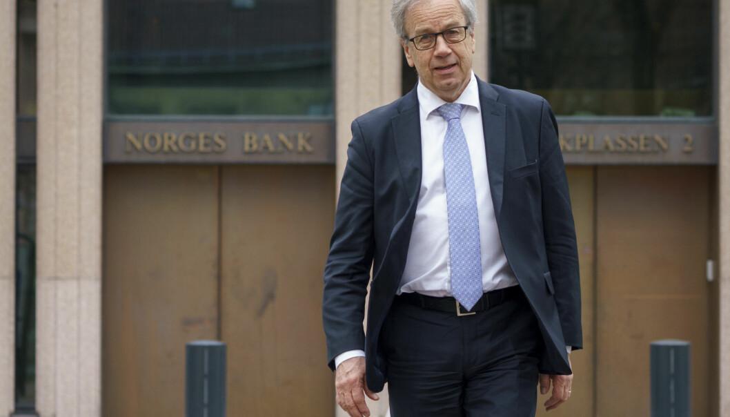 Sentralbanken, her ved sjef Øystein Olsen, skal teste tekniske løsninger for en digital norsk valuta.