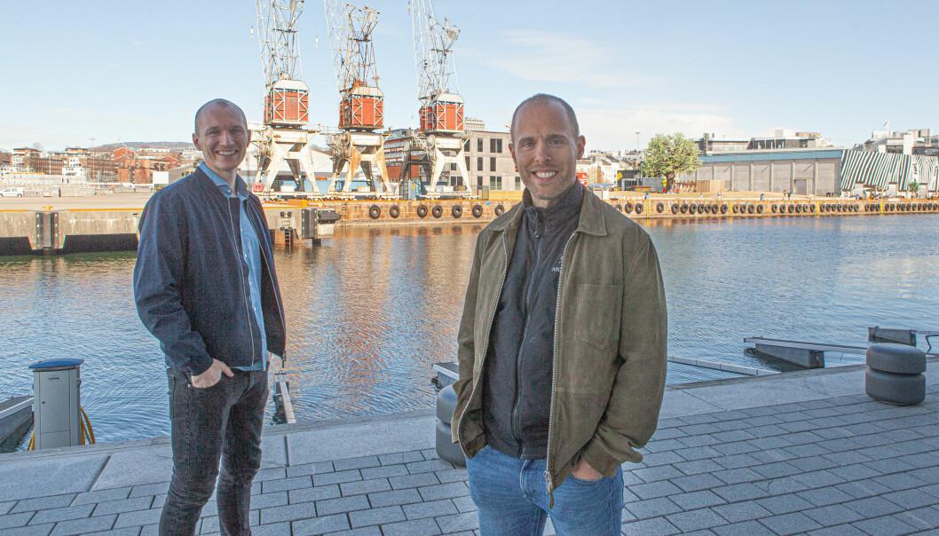 Defero-gründer Eigil Arff Tarjem (t.h.) og CFO Jon Berg Onstad har anledning til å smile. Inntektene har tatt sett opp så mye at de ikke lenger trenger å hente penger.
